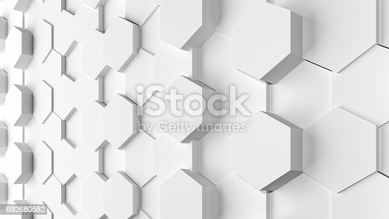 istock White texture background 3D rendering design 692680582