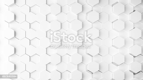 istock White texture background 3D rendering design 692680594