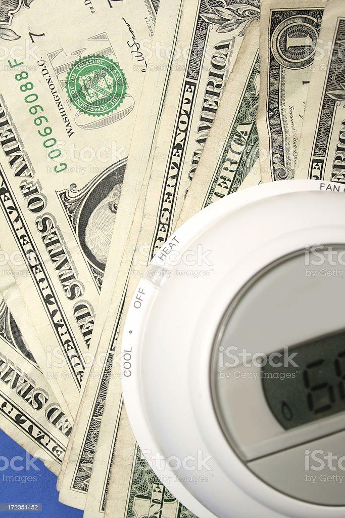 white thermostat royalty-free stock photo