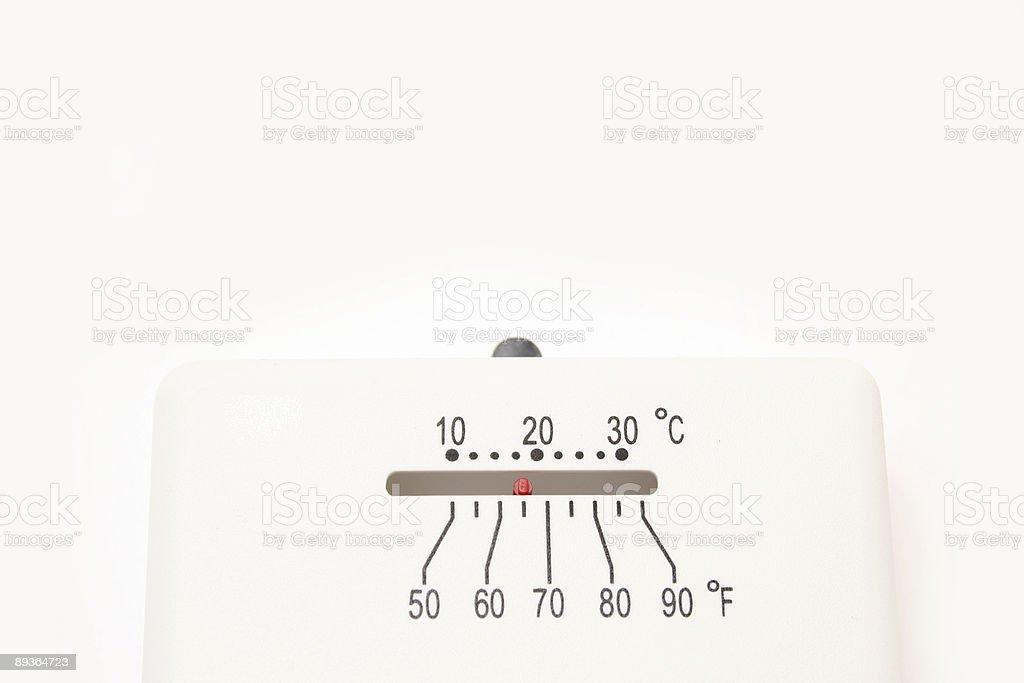 Blanc thermostat photo libre de droits