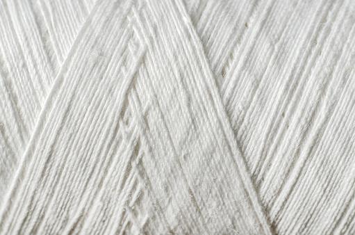 white thread as a background
