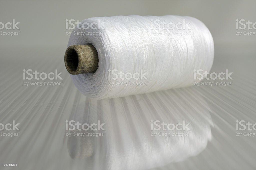 White threads royalty-free stock photo