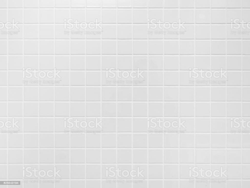 White tile wall Background floor texture stock photo
