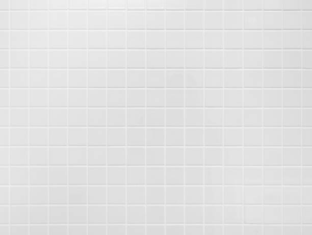 white tile wall background floor texture - tile stock photos and pictures