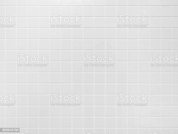 White tile wall Background Bathroom floor texture