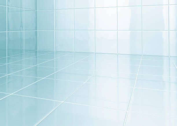 white tiles in bathroom - tile stock photos and pictures