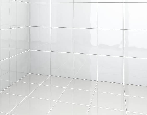 azulejos brancos no banheiro - banheiro doméstico - fotografias e filmes do acervo