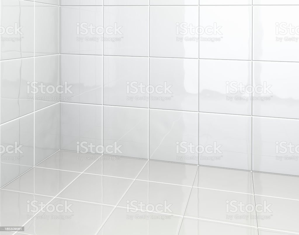 White Tiles in bathroom stock photo