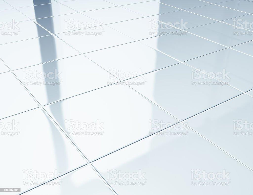 Azulejos brancos em um piso no banheiro - foto de acervo