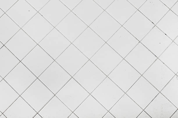 white tiles texture stock photo