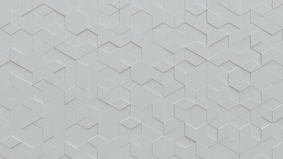 White tiles triangular background