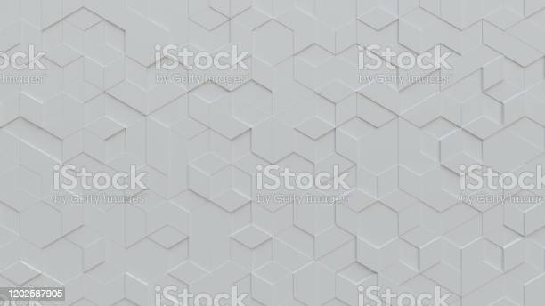 Photo of White tiles triangular background