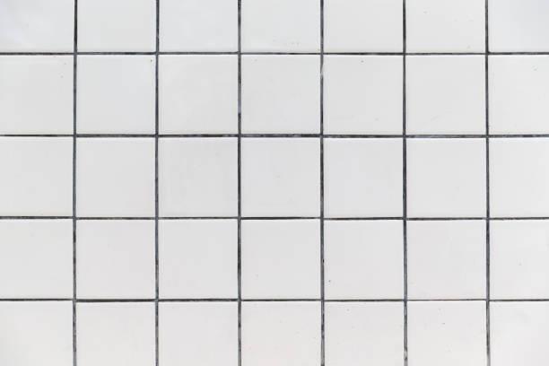 white tiles wall background texture. - azulejo imagens e fotografias de stock