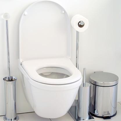 istock White toilet in the bathroom 1036893512