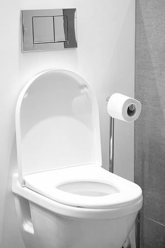 istock White toilet in the bathroom 1036893536