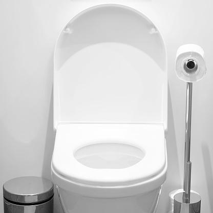 istock White toilet in the bathroom 1036893636