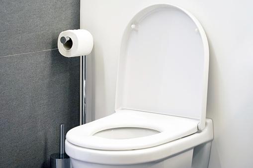 istock White toilet in the bathroom 1036895884