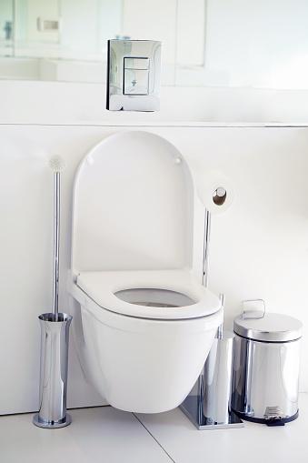 istock White toilet in the bathroom 1065908086