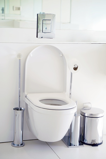 istock White toilet in the bathroom 1069315570