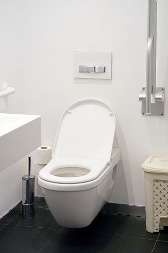 istock White toilet in the bathroom 1171354634