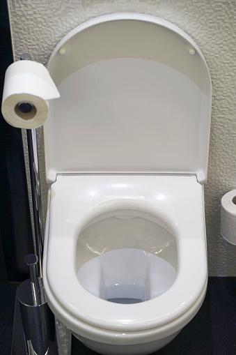 istock White toilet in the bathroom 1202956297
