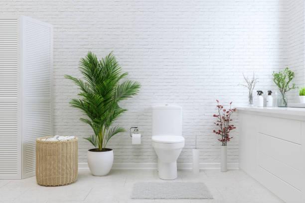 banheiro branco - banheiro doméstico - fotografias e filmes do acervo