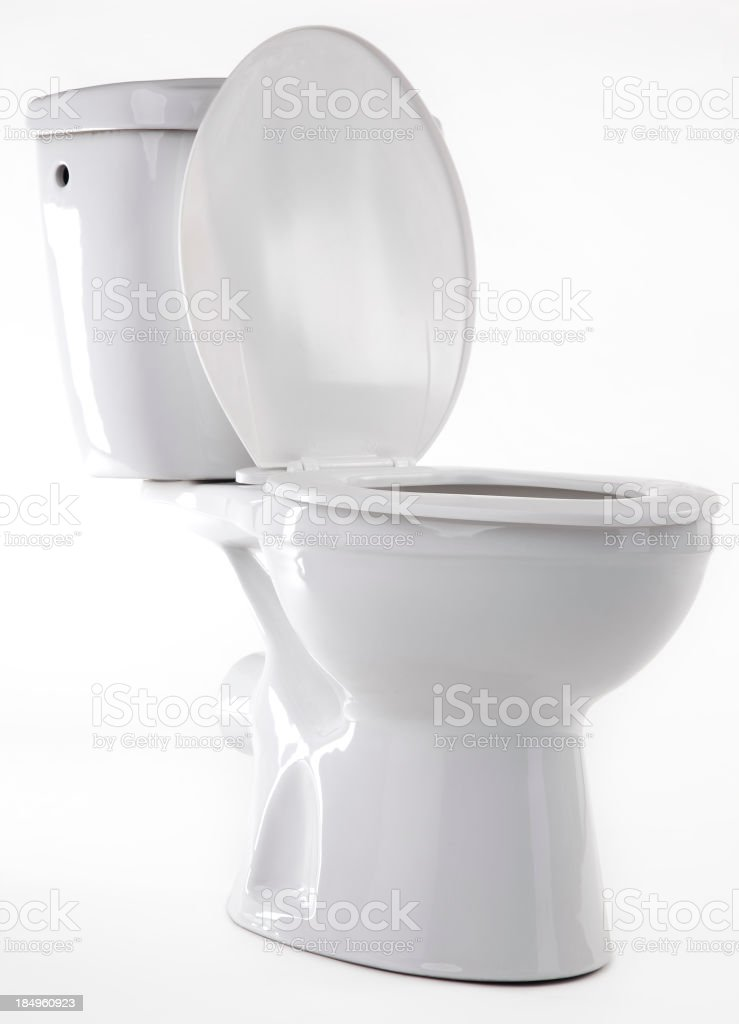 White Toilet stock photo