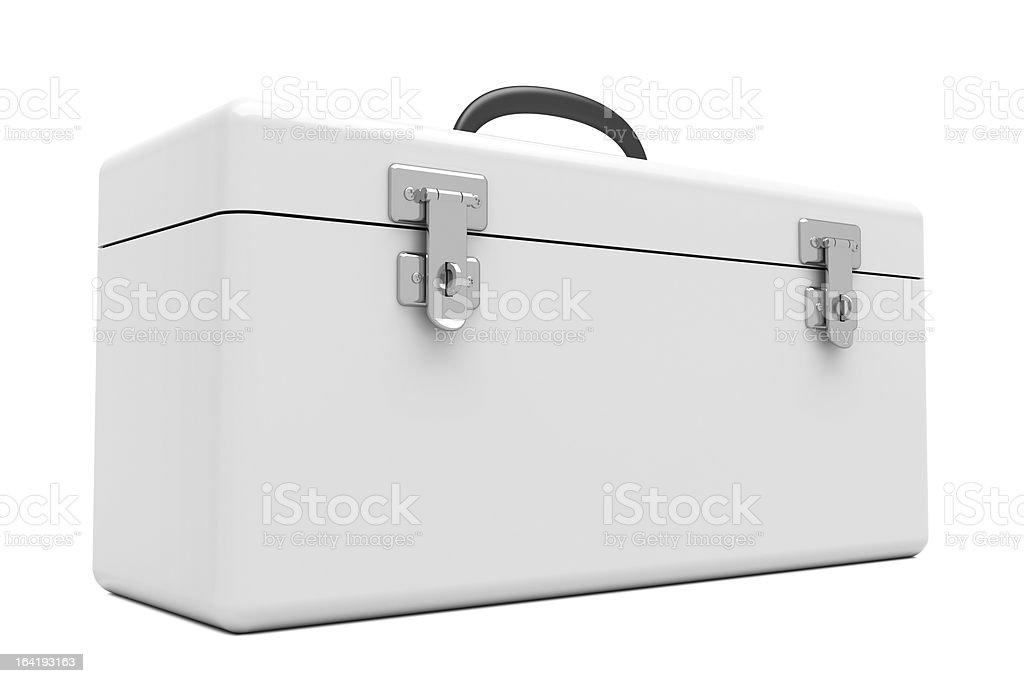 White Toolbox stock photo