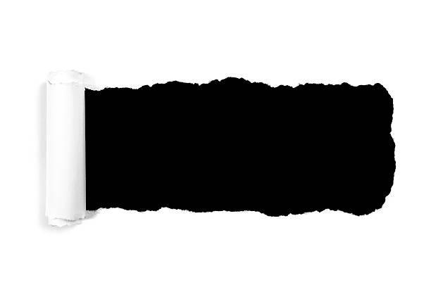 Weiße zerrissenes Papier – Foto