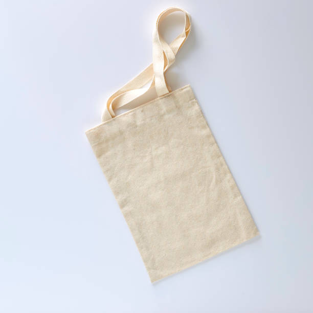 Cтоковое фото White tote bag canvas fabric cloth eco shopping sack mockup