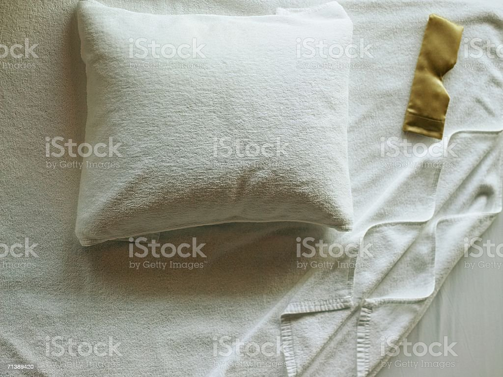 White towel and pillow royalty-free stock photo