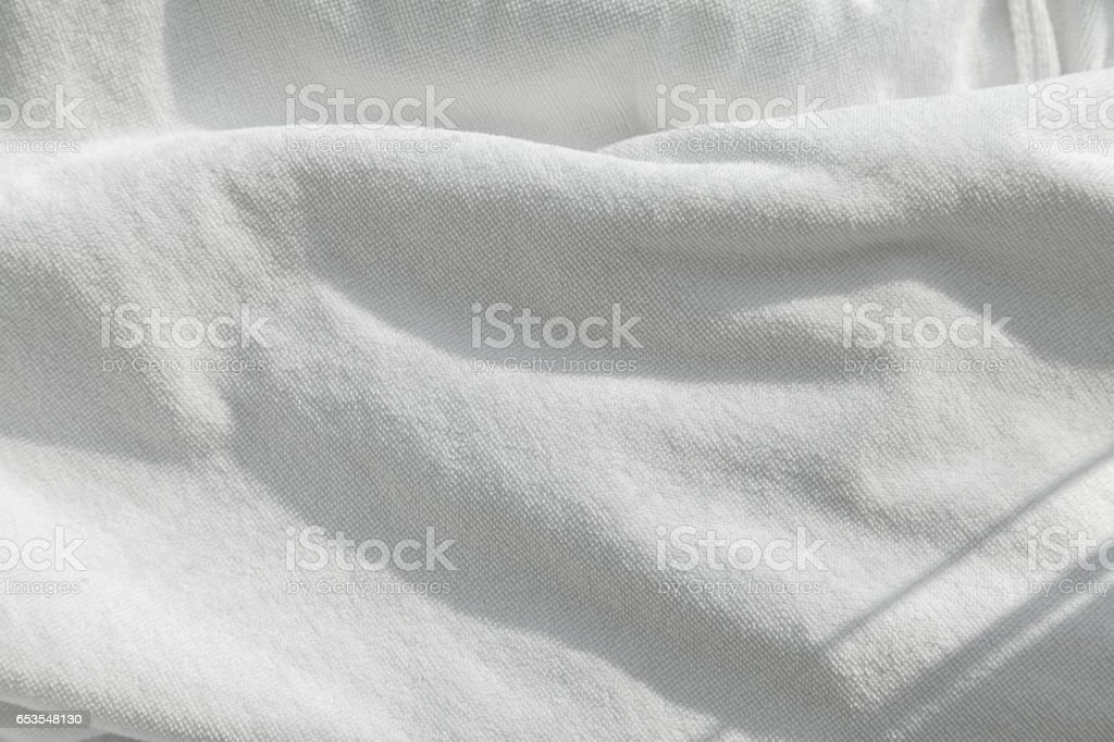 White towel background stock photo
