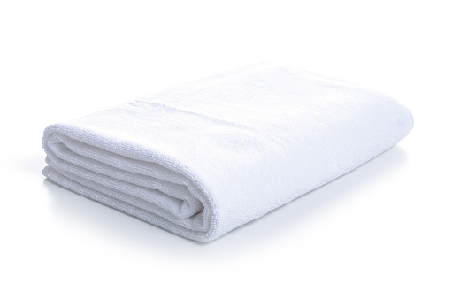 1131900491 istock photo White towel soft in hand 1087253854