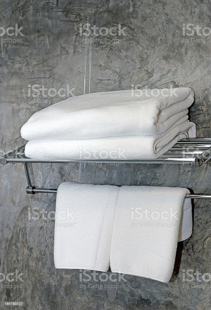 white towels royalty-free stock photo