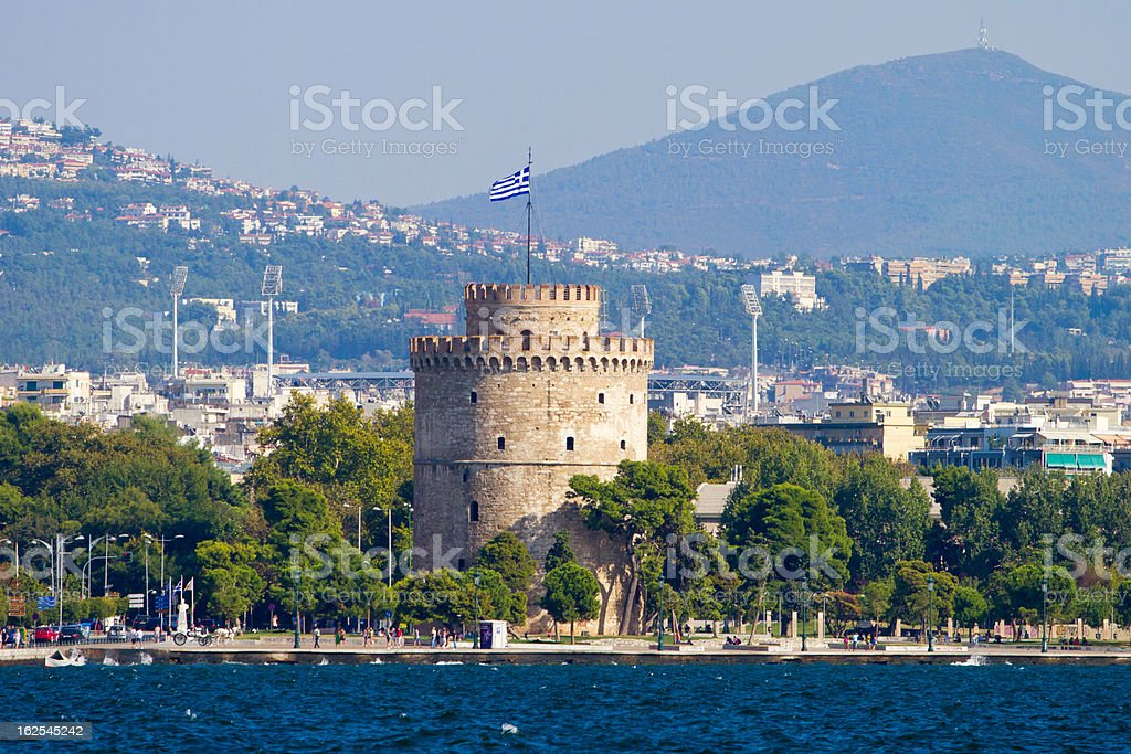 White Tower in Thessaloniki, Greece stock photo