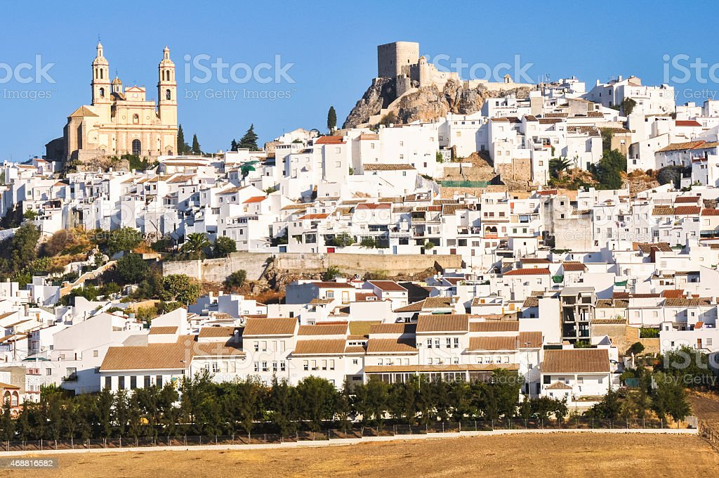 White town of Olvera, Cadiz (Spain) stock photo