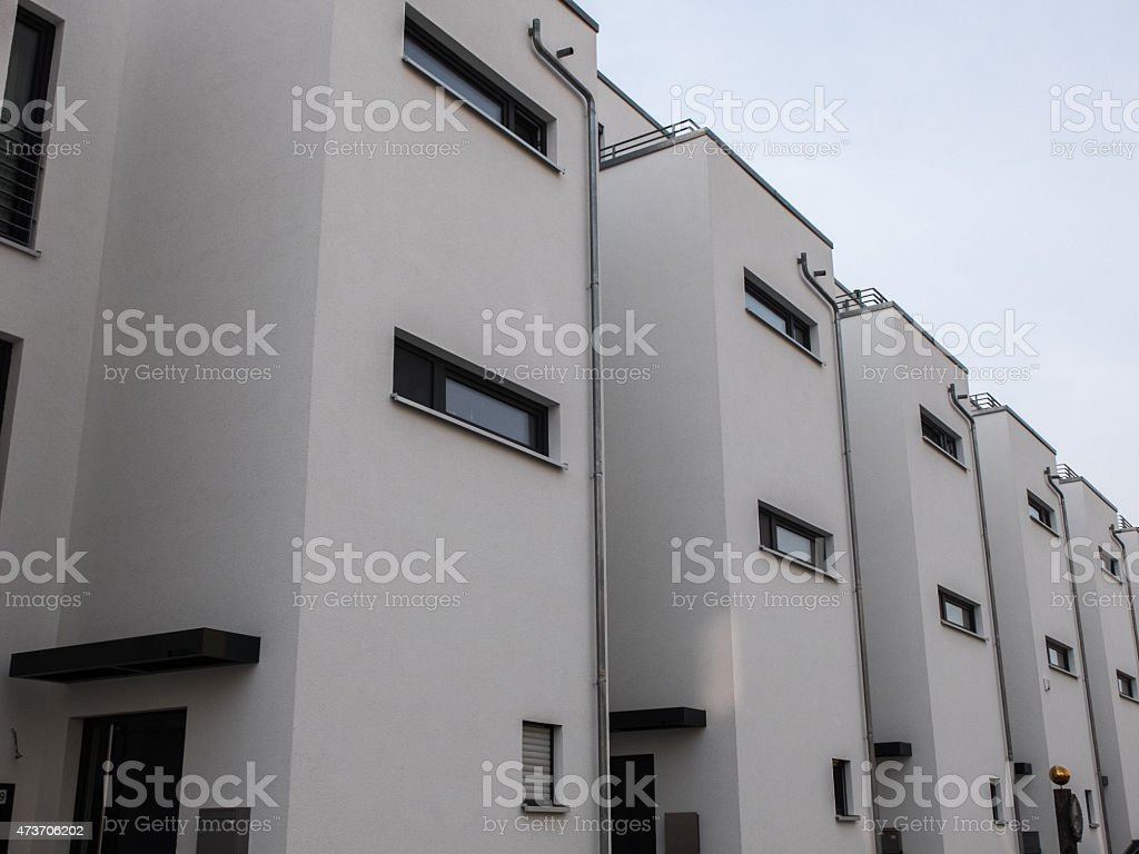 white townhouses at berlin stock photo