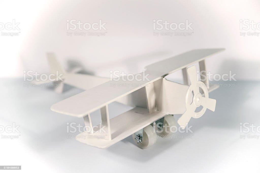 White toy plane stock photo