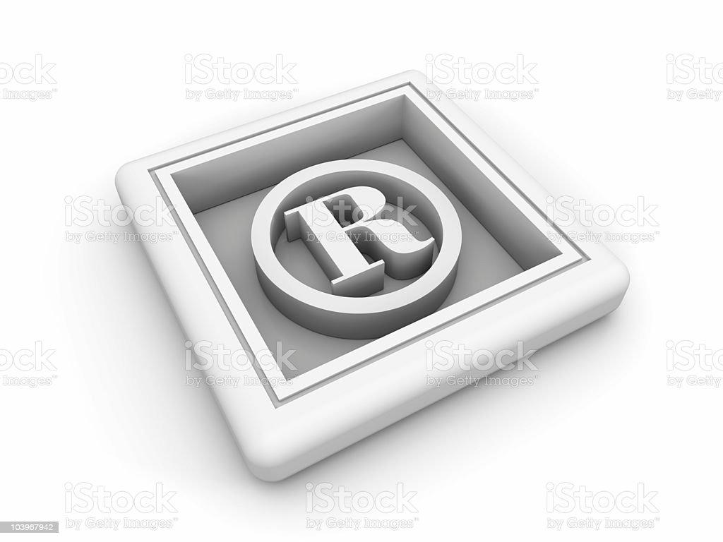 White Trademark Symbol royalty-free stock photo