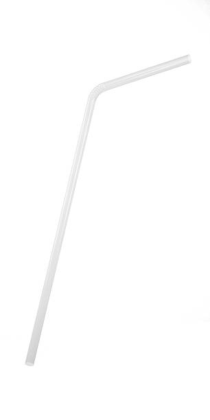 3D White Transparent Drinking Straw Isolated on White 3D White Transparent Drinking Straw Isolated on White drinking straw stock pictures, royalty-free photos & images