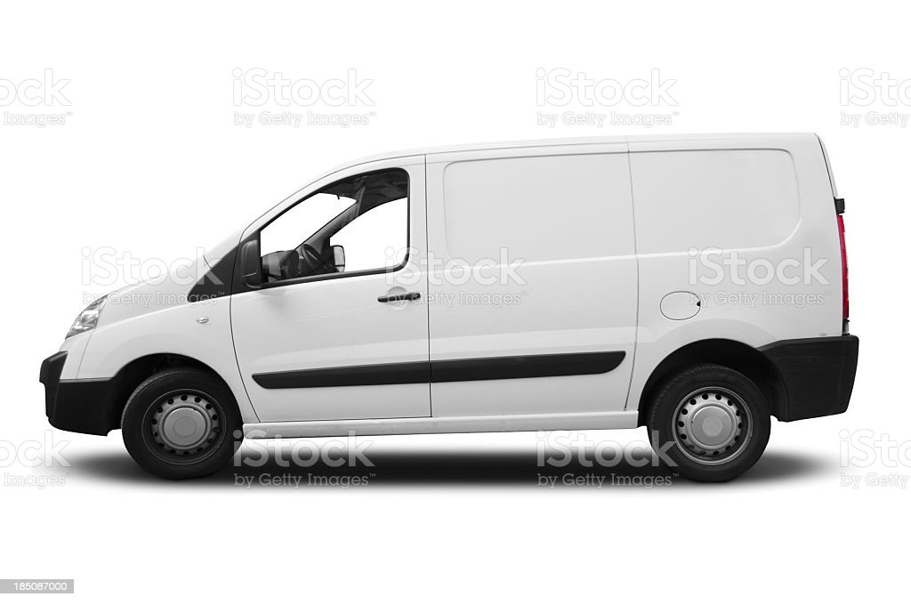 White transporter for branding stock photo