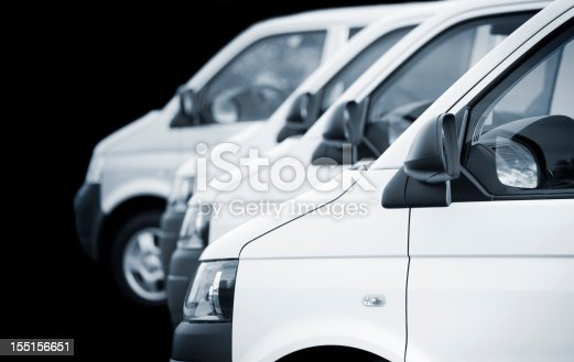 close up of white transporters, isolated on black