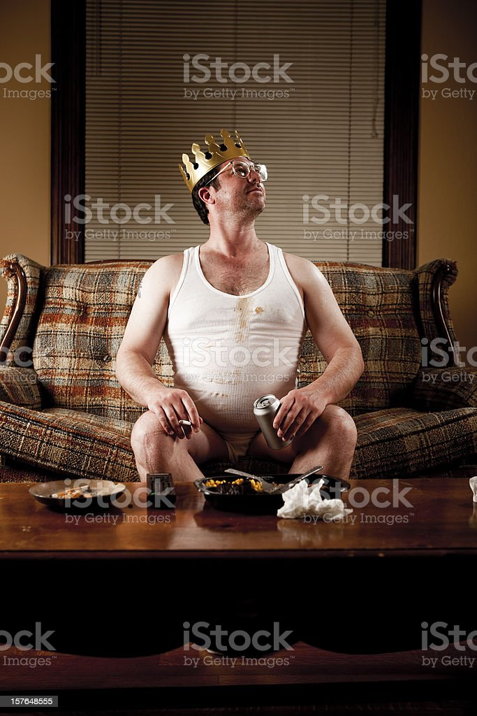 White Trash Series King Of His Castle Stock Photo - Download