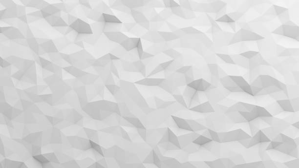 White triangle tiles flooring in digital computer technology concept, texture pattern background. 3d abstract illustration stock photo