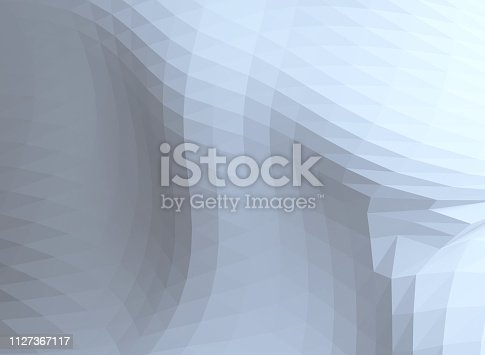 927104724 istock photo White triangle tiles seamless pattern, 3d rendering background 1127367117