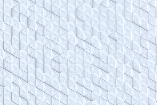 927104724 istock photo White triangle tiles seamless pattern, 3d rendering background. 927091698