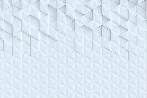 927104724 istock photo White triangle tiles seamless pattern, 3d rendering background. 927097048