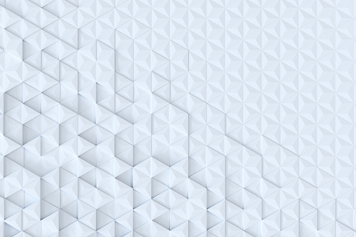 927104724 istock photo White triangle tiles seamless pattern, 3d rendering background. 927097372