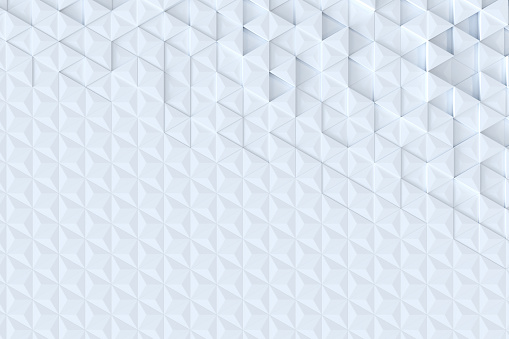 927104724 istock photo White triangle tiles seamless pattern, 3d rendering background. 927097730