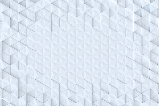 927104724 istock photo White triangle tiles seamless pattern, 3d rendering background. 927101172